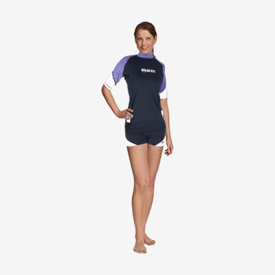 Product detail - Rash Guard Loose Fit Short Sleeve - She Dives lila