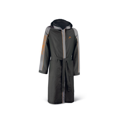 Product detail - BATHROBE MICROFIBER (MAN) black/grey
