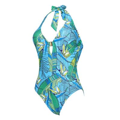 Product detail - Corsica Plunge Halter Swimsuit