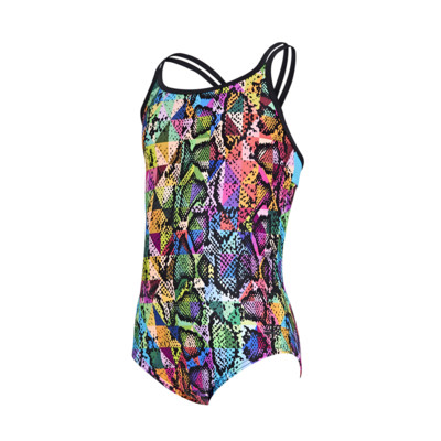 Product detail - Junior Girls Zany Skin Duoback Swimsuit