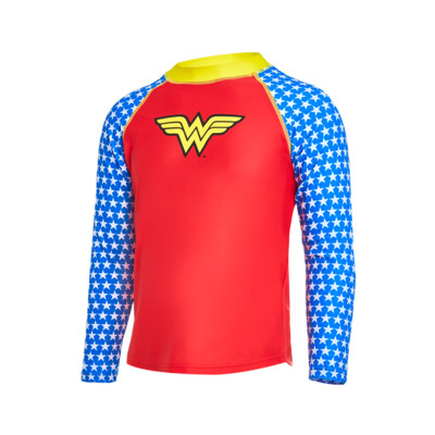 Product detail - Girls Wonder Woman Long Sleeve Sun Top