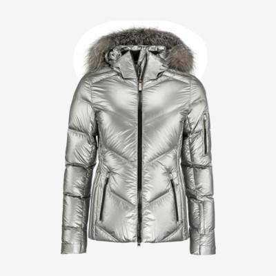 Product detail - FROST FUR Jacket Women metallic silver