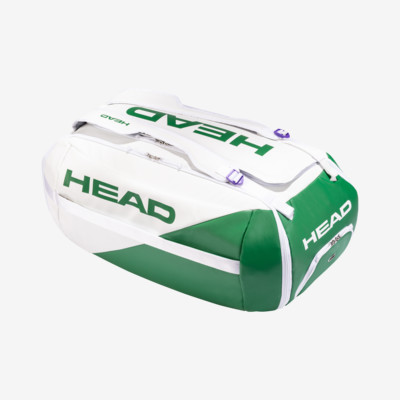 Product overview - White Proplayer Duffle Bag white/green