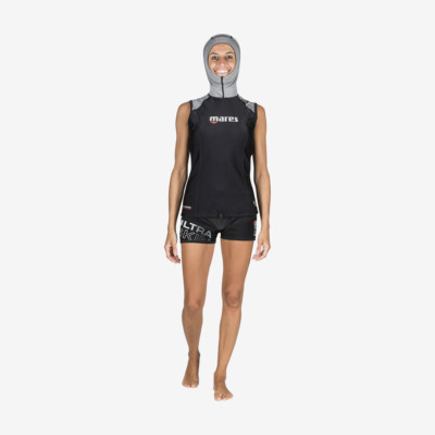 Product overview - Ultra Skin - Sleeveless with Hood - She Dives
