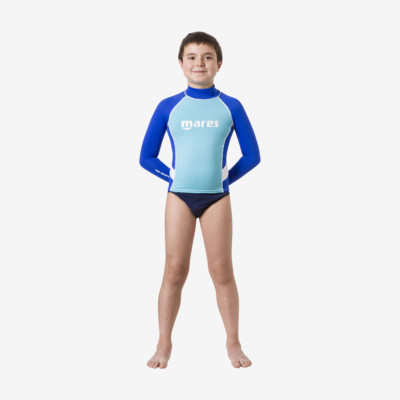 Product overview - Rash Guard Junior - Long Sleeve - Boy blue