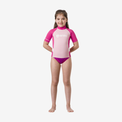 Product overview - Rash Guard Junior - Short Sleeve - Girl pink