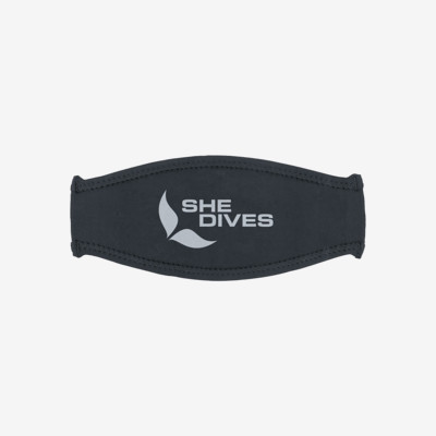 Product overview - Trilastic Mask Strap Cover - She Dives