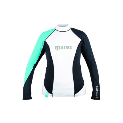 Product overview - Rash Guard Loose Fit - Long Sleeves - She Dives aqua