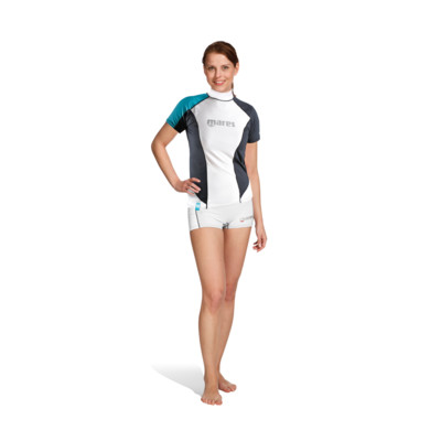 Product overview - Rash Guard Loose Fit - Short Sleeves - She Dives aqua