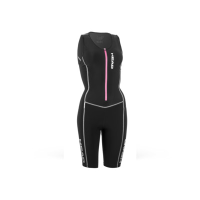 Product overview - TRI SUIT LADY with zip, light padding black