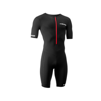 Product overview - TRI SLEEVE SUIT with zip (UNISEX) black/red