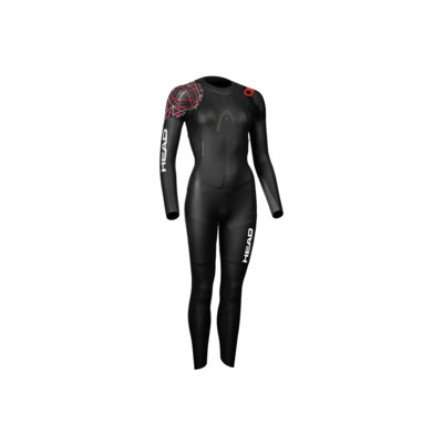 Product overview - HEAD OPENWATER MYBOOST SHELL 3.2 women's Neoprene Glideskin Wetsuit black/red