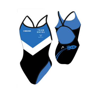 Product overview - TEAM ENVOL SWIMSUIT LADY THIN STRAP navy
