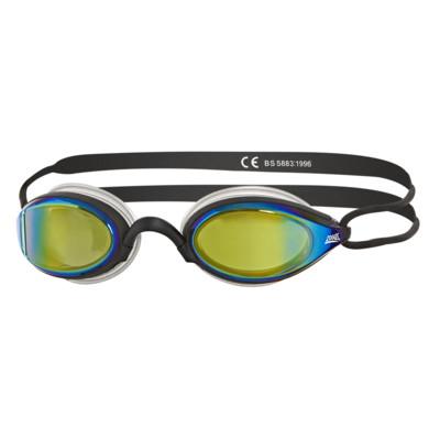 Product overview - Podium Titanium Goggle Black - Mirrored Gold Lens