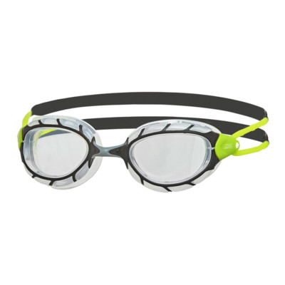 Product overview - Predator Goggles Black/Green - Clear Lens