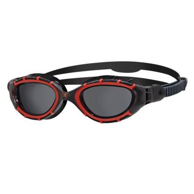 Product overview - Predator Flex Polarized Goggles Black/Red - Polarized Smoke Lens