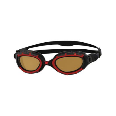 Product overview - Predator Flex Polarised Ultra Goggles Red/Black - Polarized Copper Lens