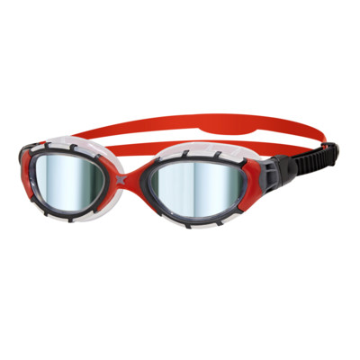 Product overview - Predator Flex Titanium Goggles Clear/Red - Mirrored Smoke Lens