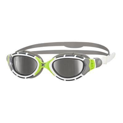 Product overview - Predator Flex Titanium Goggles White/Green - Mirrored Smoke Lens