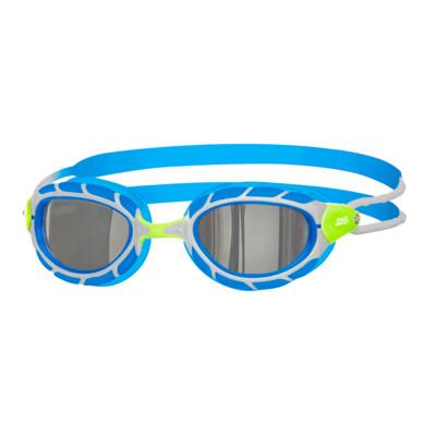 Product overview - Predator Titanium Goggles Silver/Blue - Mirrored Smoke Lens