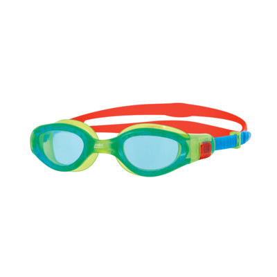 Product overview - Phantom Elite Junior Goggles Green/Red - Tinted Blue Lens