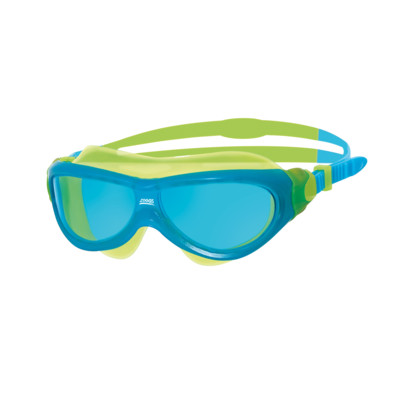 Product overview - Phantom Junior Mask Green/Blue - Tinted Blue Lens