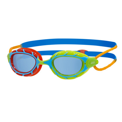 Product overview - Predator Junior Goggles Blue/Red - Tinted Blue Lens