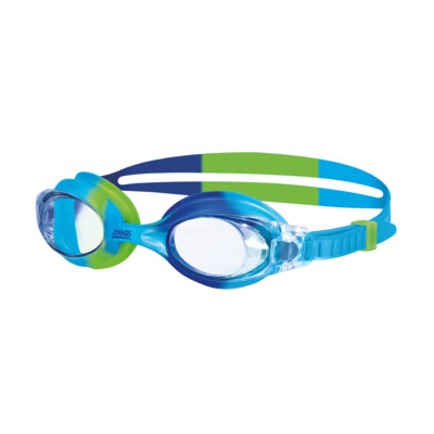 Product overview - Little Bondi Goggles Blue/Green - Clear Lens