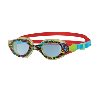 Product overview - Little Comet Goggles Red/Blue - Tinted Blue Lens