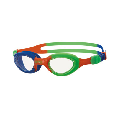 Product overview - Little Super Seal Goggles Orange/Green - Clear Lens