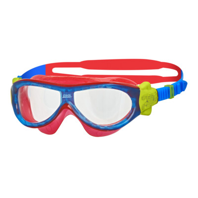 Product overview - Phantom Kids Mask Blue/Red - Clear Lens