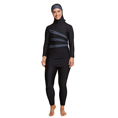 Product overview - Meelup 3 Piece Modesty Suit BKGY