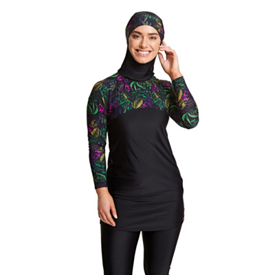 Product overview - Dark Botanical 3 Piece Modesty Suit DABO