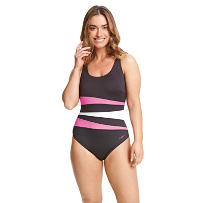 Product overview - Sumatra Adjustable Scoopback One Piece black/pink