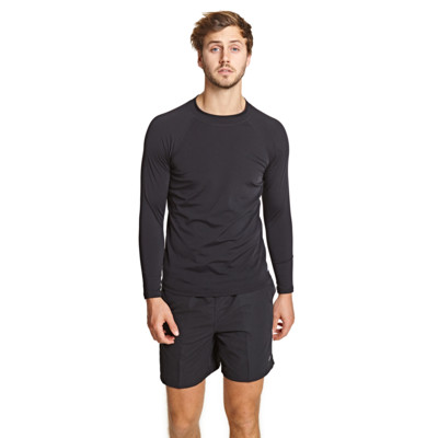 Product overview - Mens Jackson Long Sleeve Sun Top black