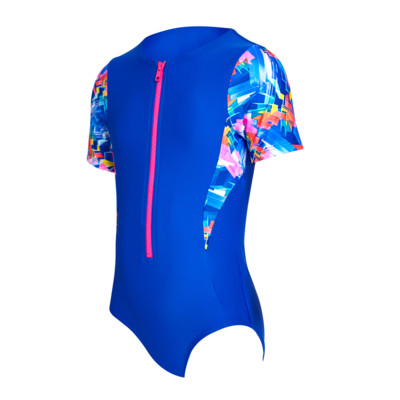 Product overview - Junior Girls Digital Geo Capped Sleeve Suit