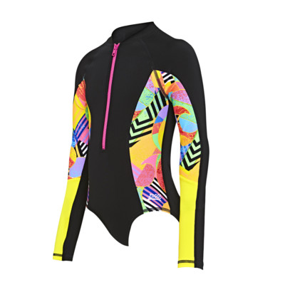 Product overview - Junior Girls Flashback Long Sleeve Scuba Suit