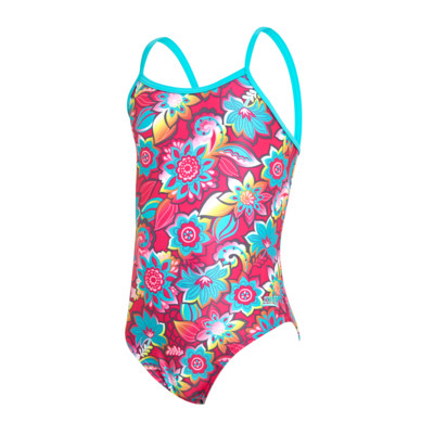 Product overview - Juniors Girls Garden Party Yaroomba Floral Swimsuit