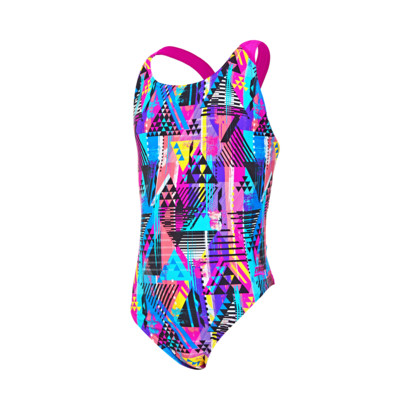 Product overview - Junior Girls Labrynth Flyback Swimsuit