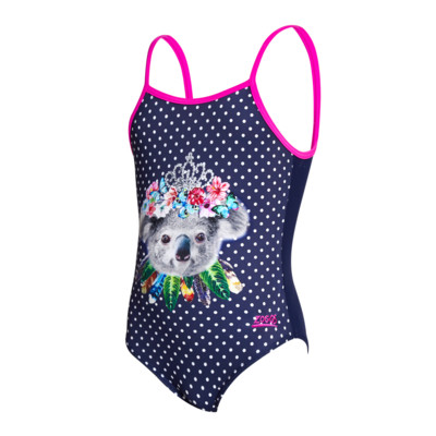 Product overview - Girls Tiara Koala U Back navy