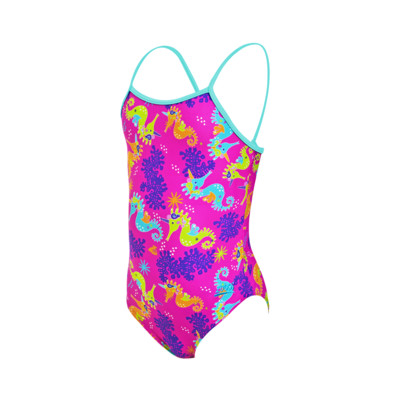 Product overview - Girls Sea Unicorn Yaroomba Floral Swimsuit