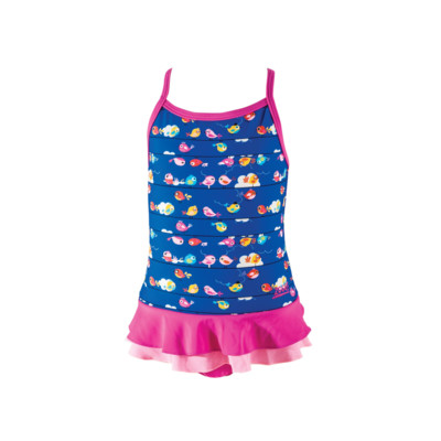 Product overview - Girls Pretty Bird X Back Swimdress