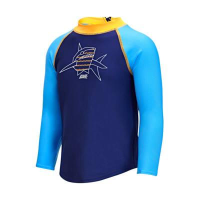 Product overview - Boys Paper Shark Long Sleeve Sun Top PASH