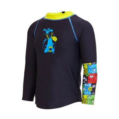 Product overview - Sci Fi Long Sleeve Zip Sun Top black