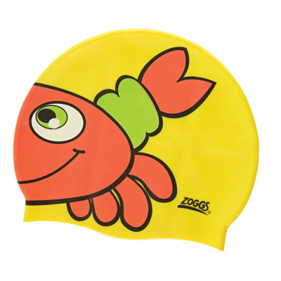 Product overview - Jr Character Silicone Cap - Yellow Crab