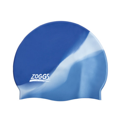 Product overview - Multi Colour Silicone Swimming Cap blue/silver