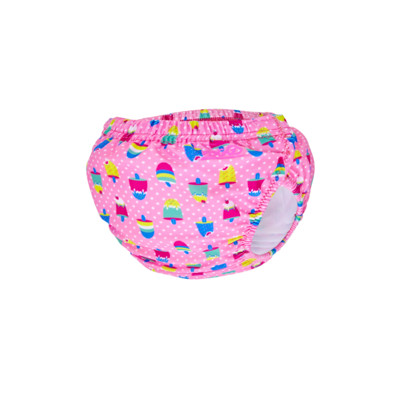 Product overview - Ice Creams Adjustable Swim Nappy pink