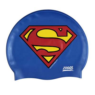 Product overview - DC Super Heroes Junior Superman Silicone Swim Cap