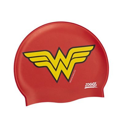 Product overview - DC Super Heroes Junior Wonder Woman Silicone Swim Cap