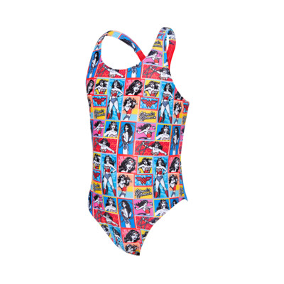 Product overview - Junior Girls Wonder Woman Rowleeback Swimsuit